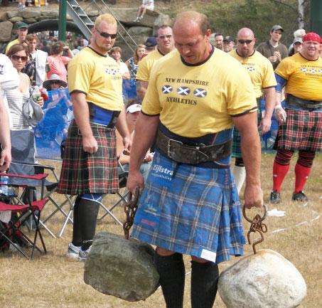 Zondag 30 augustus is het Nederlands Kampioenschap Highland Games op het starteiland van Sneek